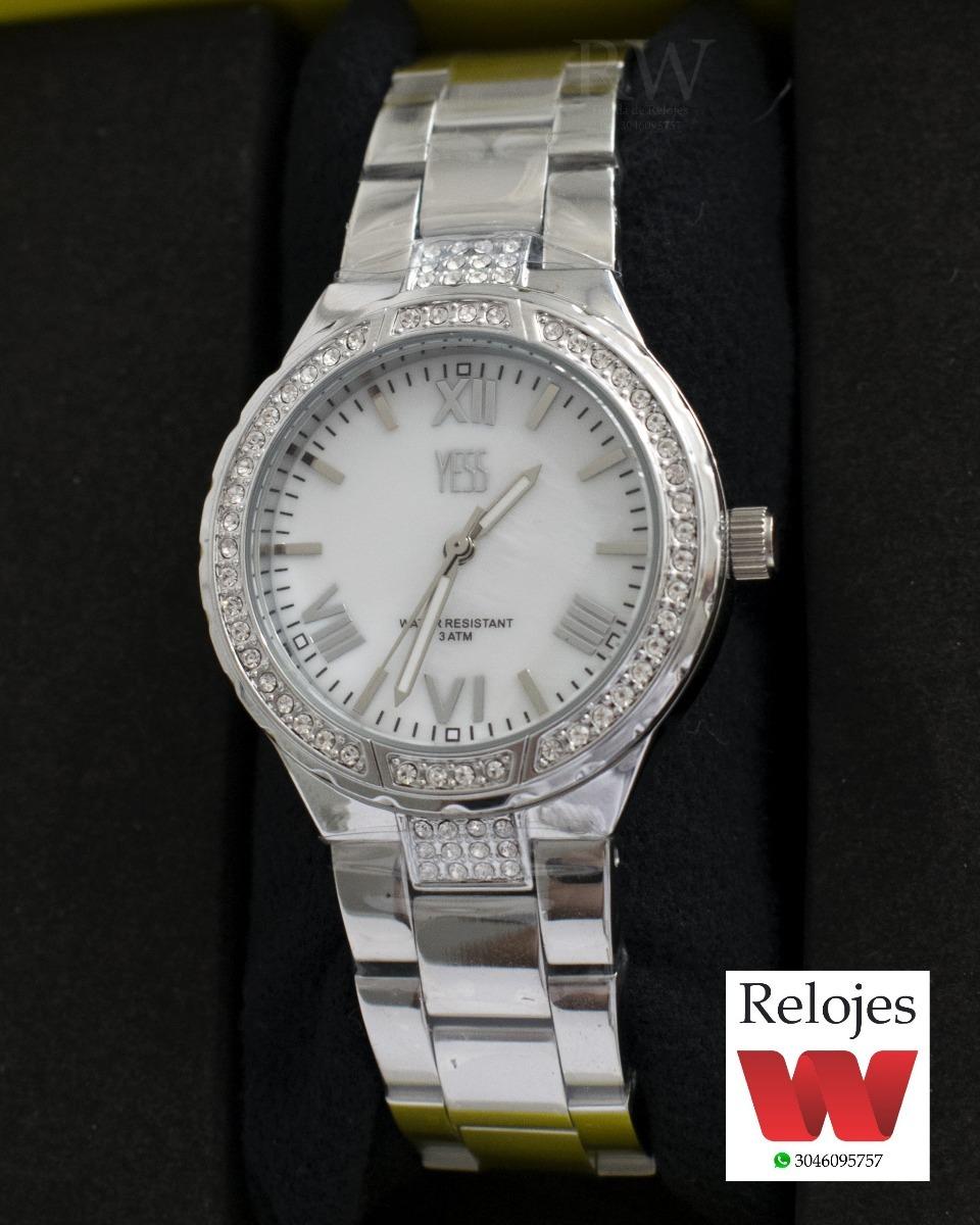 Reloj Yess Dama Acero Plateado Ref. S15396 -   109.900 en Mercado Libre 4bebef384c60