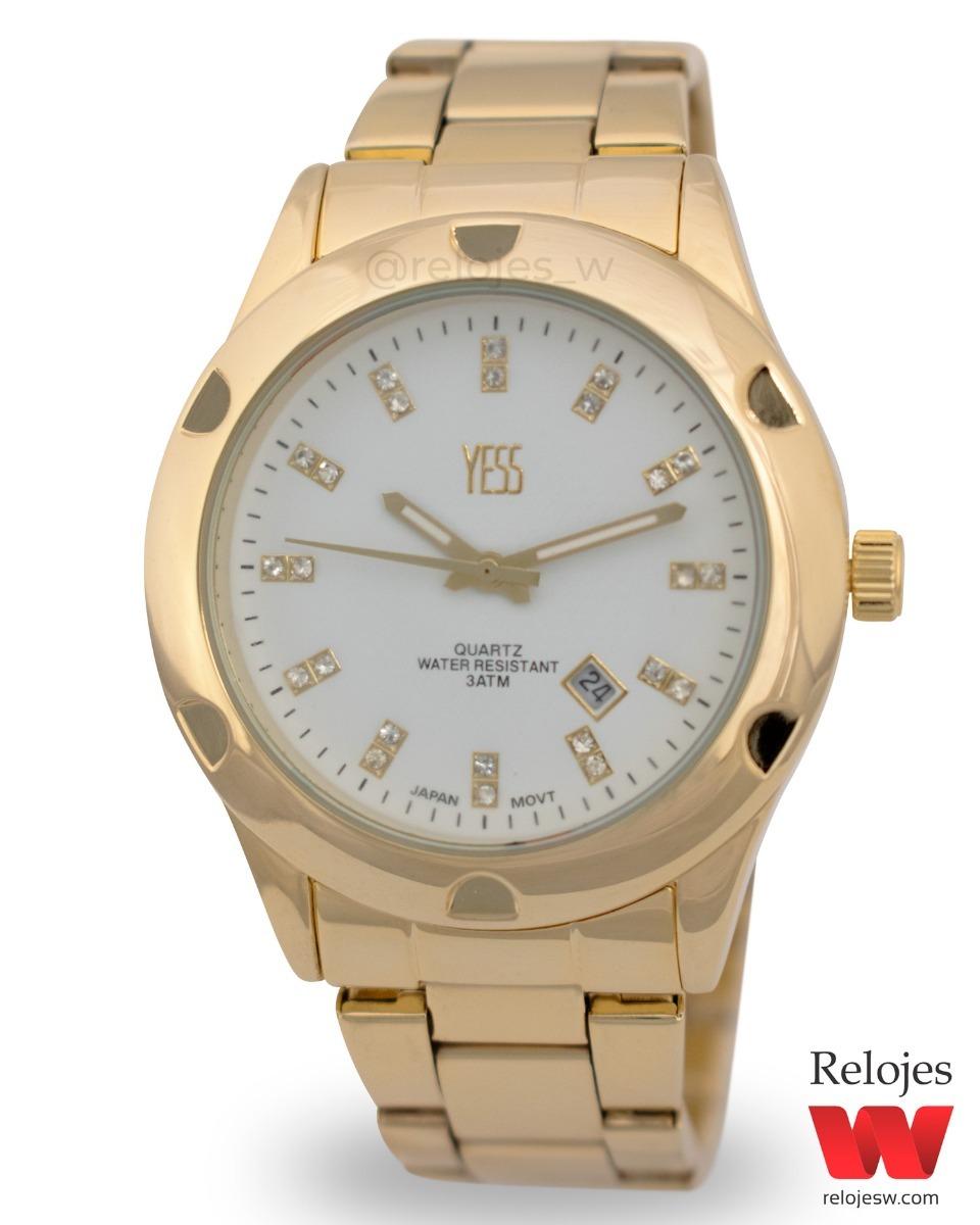c77eb010ca3d Reloj Yess Dama Dorado Blanco Ref. K-13051 - Envío Gratis -   89.900 en Mercado  Libre
