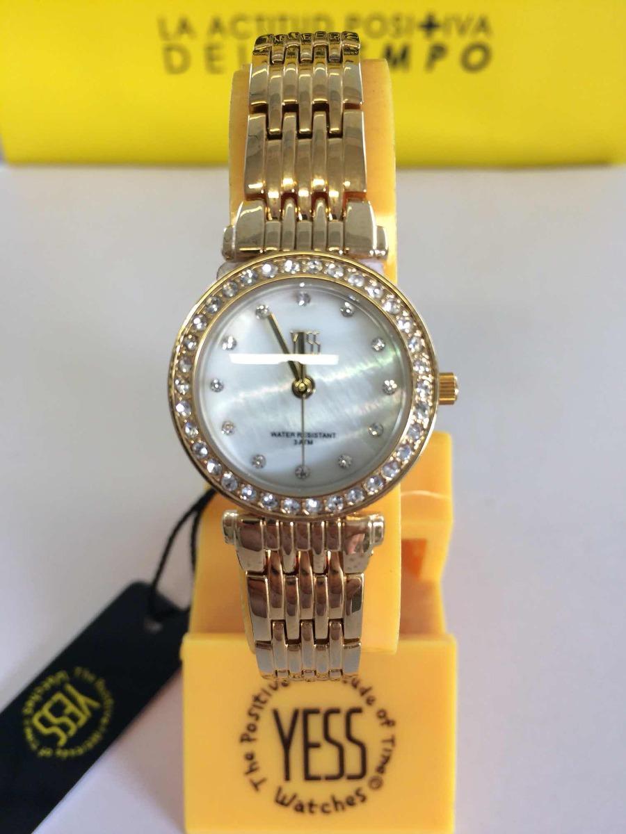 a6b8c2308ad4 Reloj Yess Dama S13983s Color Dorado -   109.900 en Mercado Libre