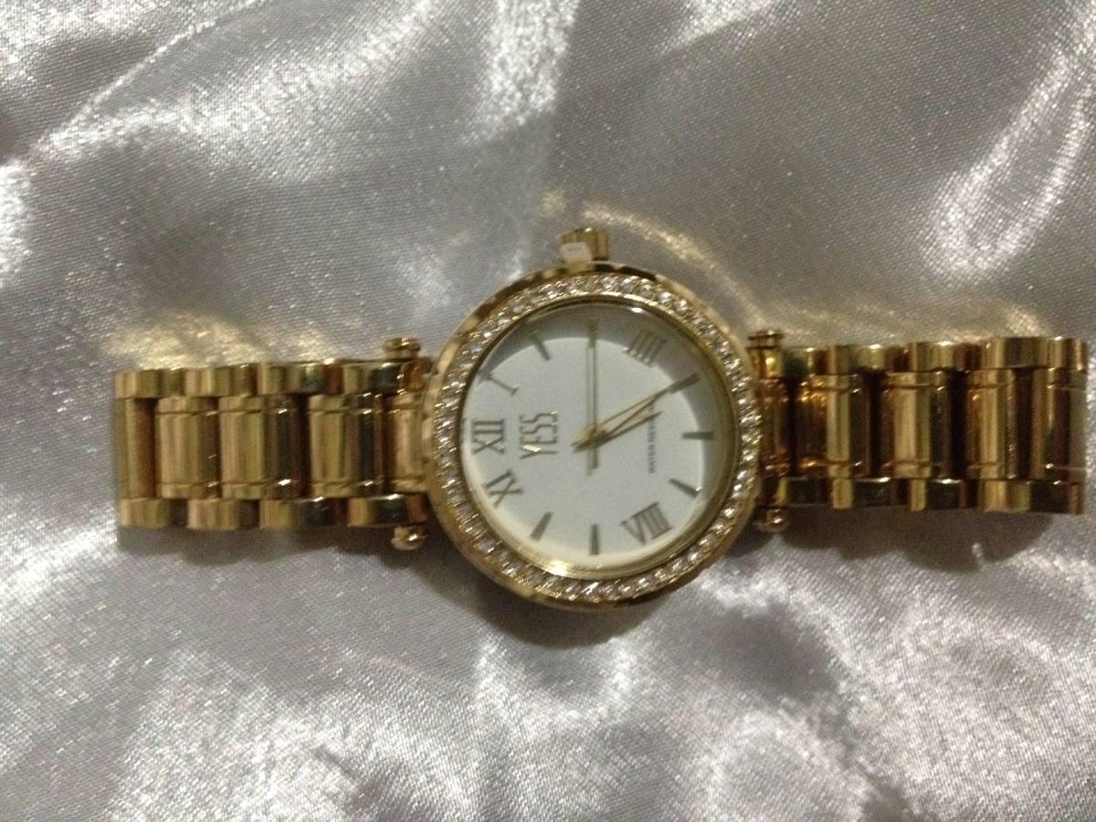 d05ff818f895 reloj yess dorado elegante de vestir para dama. Cargando zoom.