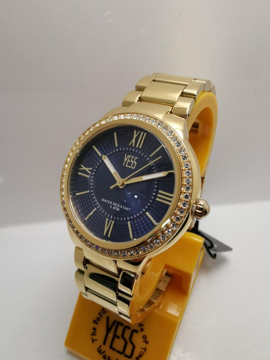 ebb3c9ccfd94 Reloj Yess Mujer S393 Dorado Azul Original -   160.000 en Mercado Libre