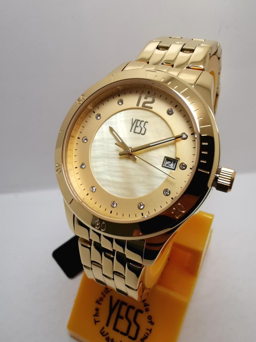 bcc5a8c434f7 Reloj Yess Mujer S393 Dorado Original -   160.000 en Mercado Libre