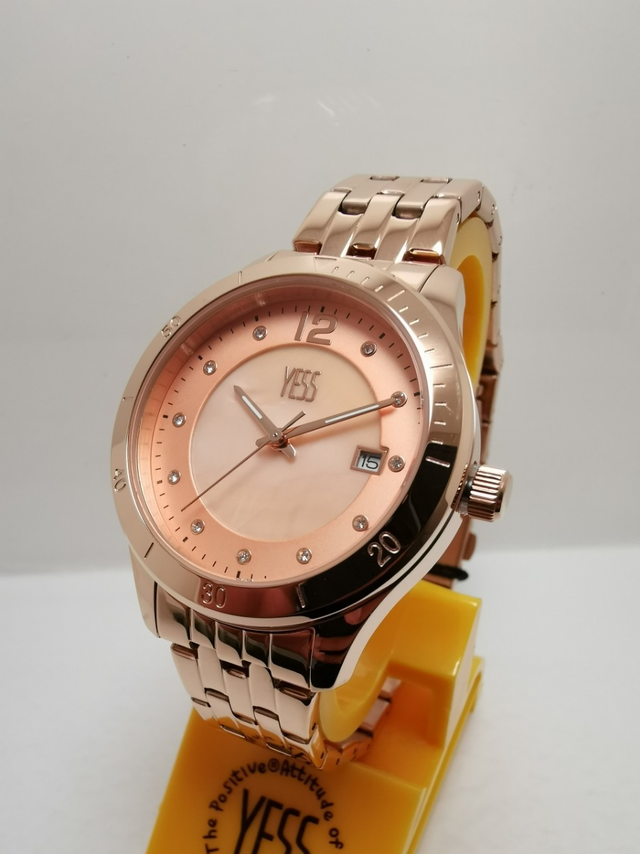 b71e9bd5a53f Reloj Yess Mujer S393 Oro Rosa Original -   160.000 en Mercado Libre