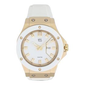 Reloj Yess Mujer Sml8077  Dorado Blanco Original