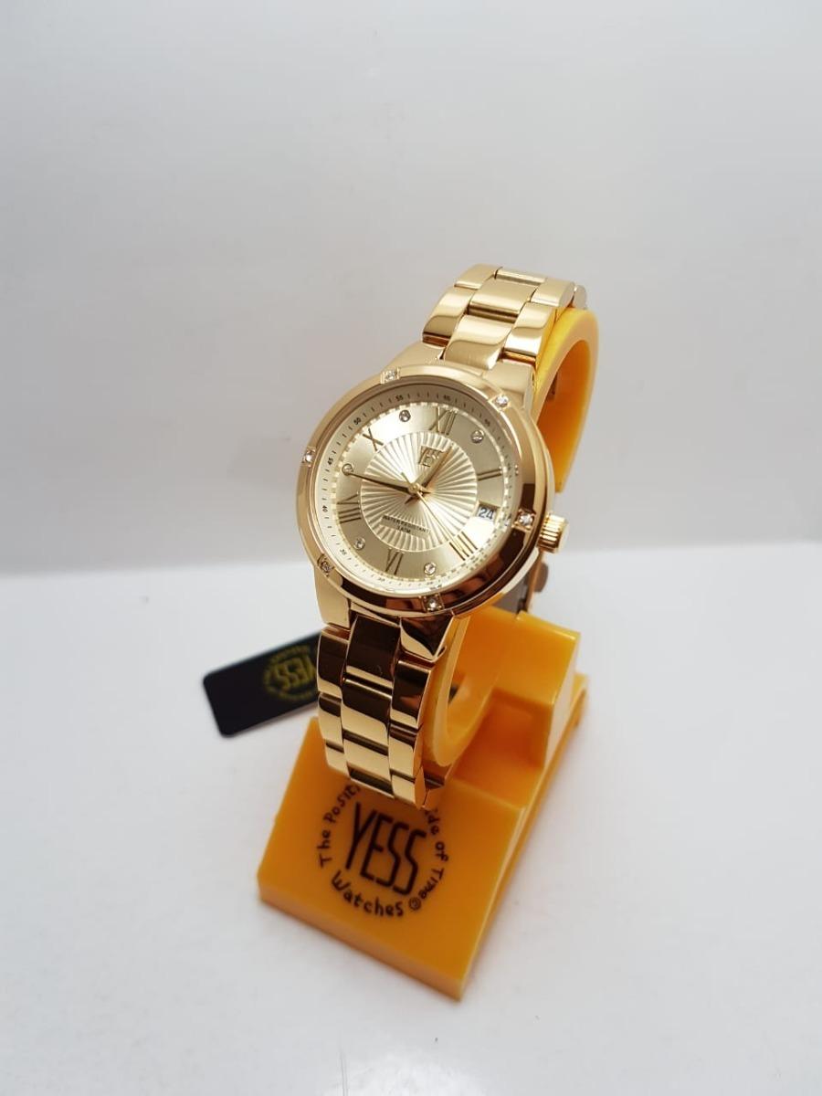24bec63a6ed8 Reloj Yess S15454a Dorado Dama Original -   160.000 en Mercado Libre