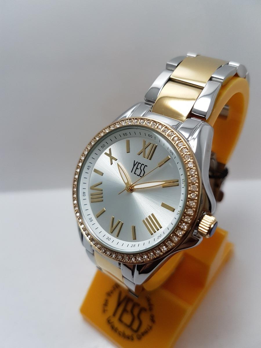 b239ce4c3d38 Reloj Yess Sm7042 Original Para Dama Plateado Con Dorado -   110.000 ...