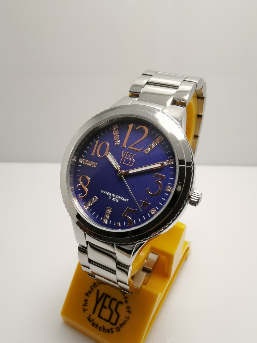 ed990dc85c9a Reloj Yess Sm7633 Plateado Azul Mujer Original -   160.000 en ...