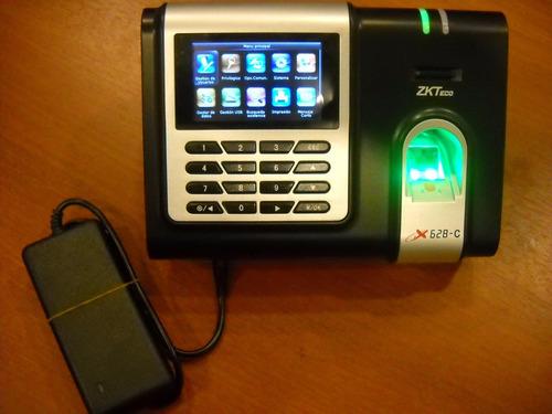 reloj zk-x628-c-id control de personal huella+tarjeta+fte 5v