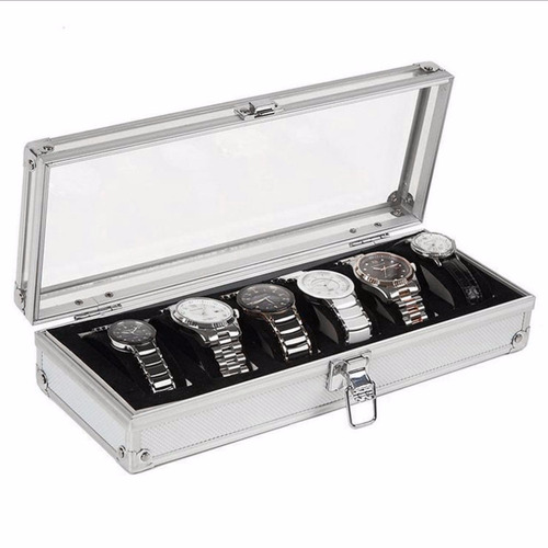 relojera estuche 6 relojes porta reloj relojero caja exhibe