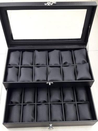 relojera estuche para relojes caja de lujo para 24 relojes