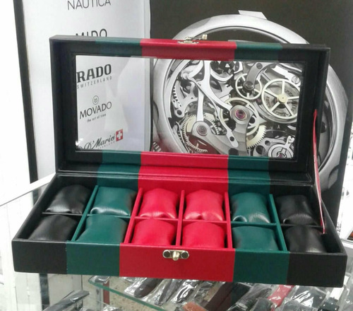 relojera organizador d lujo 12 relojes dolce & gabana armani
