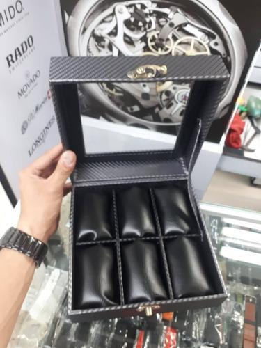 relojera organizador de lujo 6 relojes dolce & gabana armani