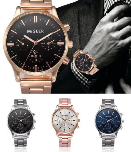 relojes 2019 migeer metalicos de moda casual original hombre