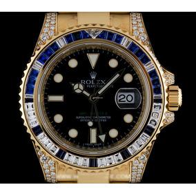 d7babd57005d Reloj Rolex 18k Y g Diamond   Sapphire Gmt-master Ii Nos B p