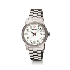talla 40 1fad7 08985 Mens Wenger Field Swiss Military Steel Date Casual Watch