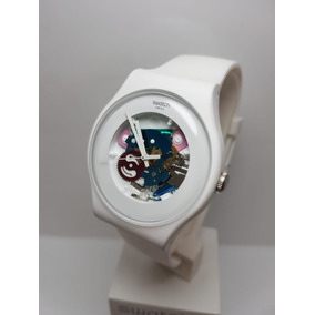Original Reloj Mujer White Lacquered Suow100 Swatch Yf6yI7vbg