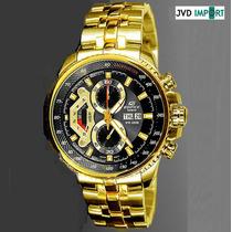 Reloj Casio Edifice Dorado Ef-558fg-1av - 100% Original