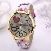 Reloj Pulsera Brazalete De Cuero Moda Para Mujer En Stock!