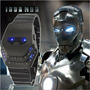 Reloj Led Binario - Iron Man - Acero Inoxidable
