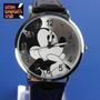 Reloj Mickey Mouse Importado No Llavero No Usb Correa Cuero