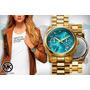 Reloj Michael Kors Mk5815 Hunger Stop Mid-size Turquesa