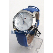 Reloj Tommy Hilfiger 1781401 Correa De Cuero Azul Para Dama