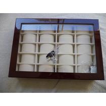 Caja/estuche Madera Lacada Negra Para Guardar 20 Relojes