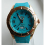Reloj Yess Caballero Dorado Correa Azul Turquesa