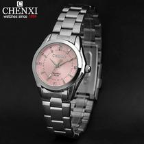 Reloj Chenxi En Acero Inoxidable, Moda Casual Para Chicas