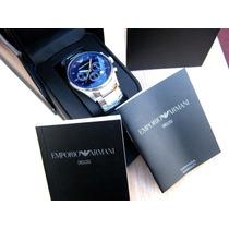 Reloj Emporio Armani Ar5860 Azul Sellado Nuevo En Caja