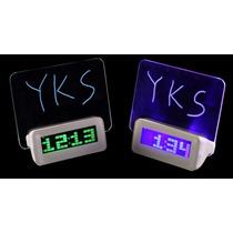 Reloj Led Pizarra Alarma Temperatura Fluorescente