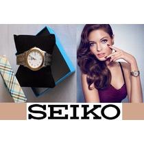 Reloj Seiko Original Varon Brazalete Metal C/fechador