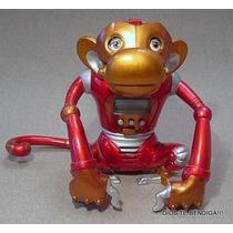 Mono Robot Metalico Habla/da La Hora/tiene Alarma