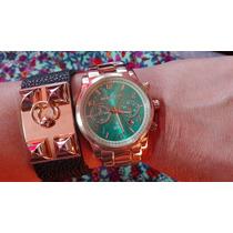 Reloj Michael Kors Mk Dama Importado + Caja Negra+almohada
