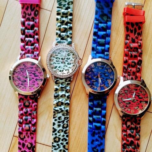 relojes animal print + caja de regalo