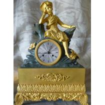 Importante Reloj De Mesa Frances, Bronce Dorado De Origen.