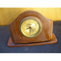 Reloj Antiguo Caja Madera Art-deco Record Aleman Funcionando