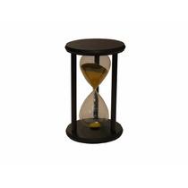 Reloj De Arena Base De Madera Grande Cod. 17.915. Importado