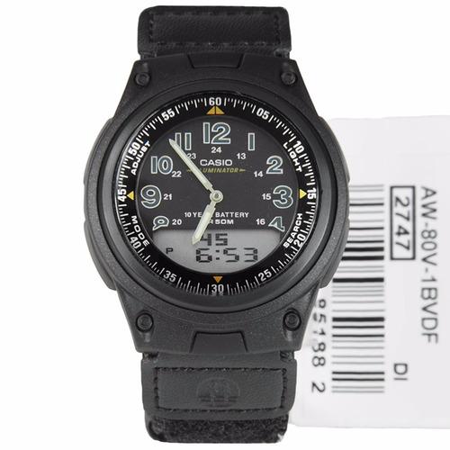 relojes casio aw-80v velcro 100% original envio gratis gtia5