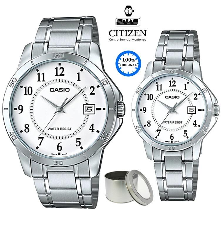80b90d2768bc Relojes Casio Pareja Mtp-v004d-7  watchsalas  Quartz Acero ...