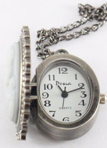 relojes colgantes tapa camafeo pesia 6 unidades garantía 12m