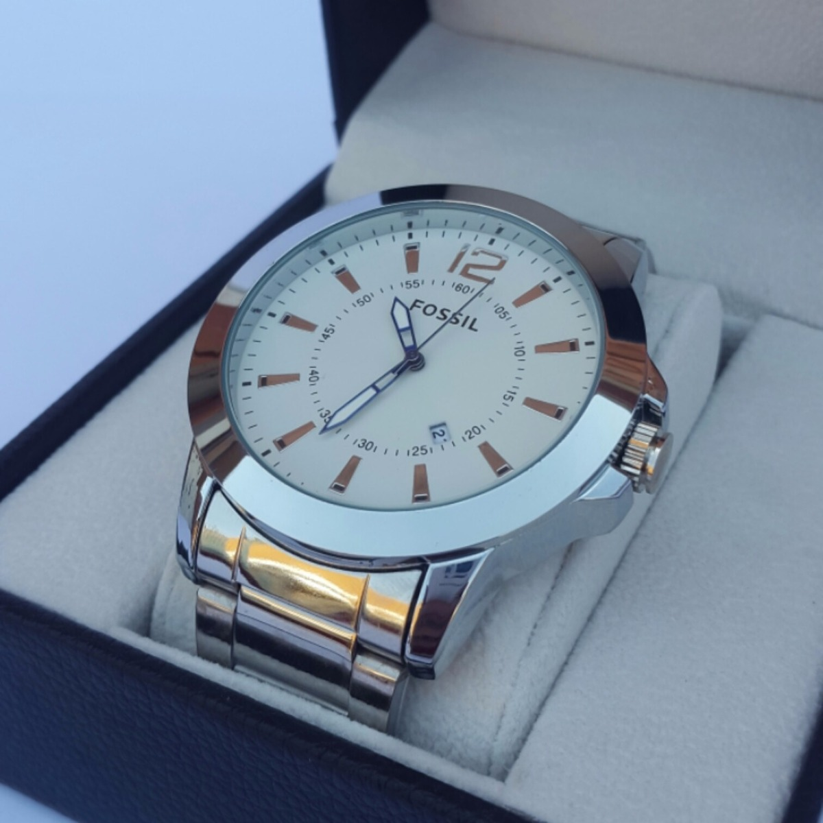 e746563e5d5b relojes de acero con calendario para hombres. Cargando zoom.