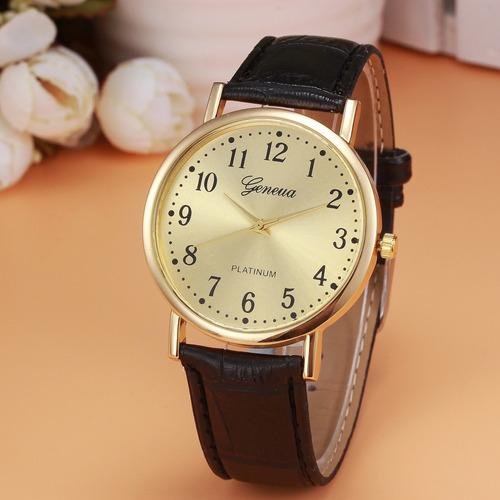 relojes de hombres geneva casual de lujo de cuarzo
