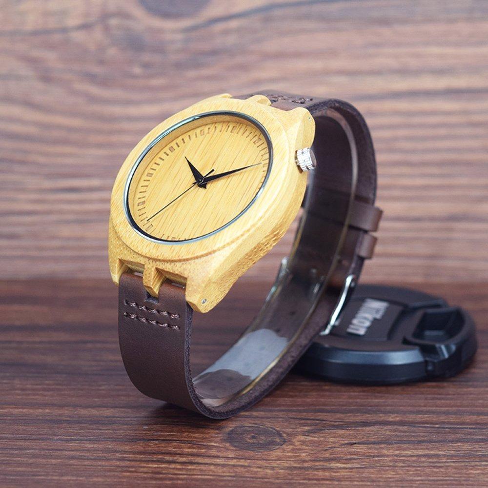 9414588fb65d relojes de madera de bambú natural de los hombres de siha. Cargando zoom.