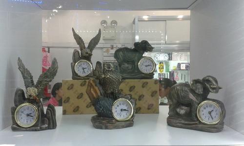 relojes de mesa importados figuras de animales