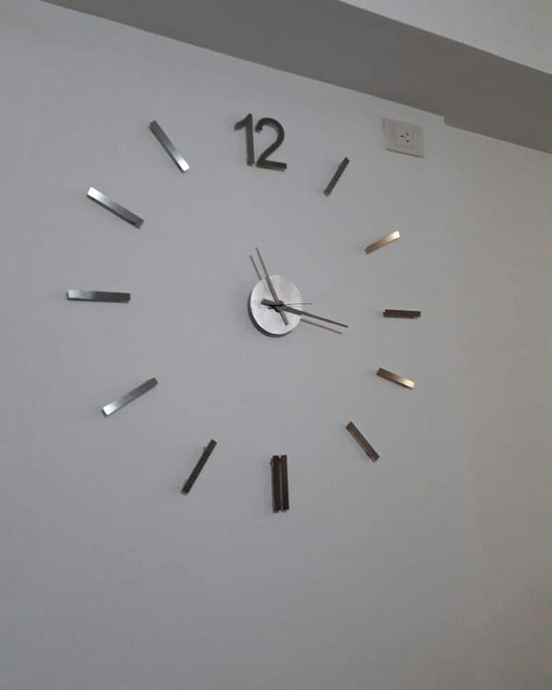 100 Gigantes Relojes 80 De 50 Cm2 Modernos Inox Acero Pared A 6gvm7yiybf fg7b6y