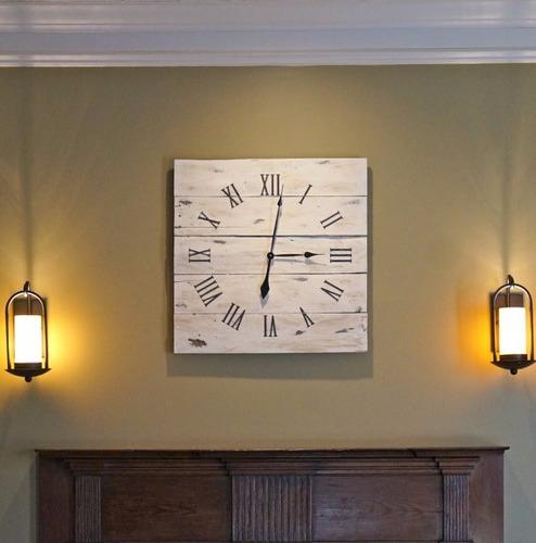 Relojes de pared en madera rusticos - Reloj pared madera ...