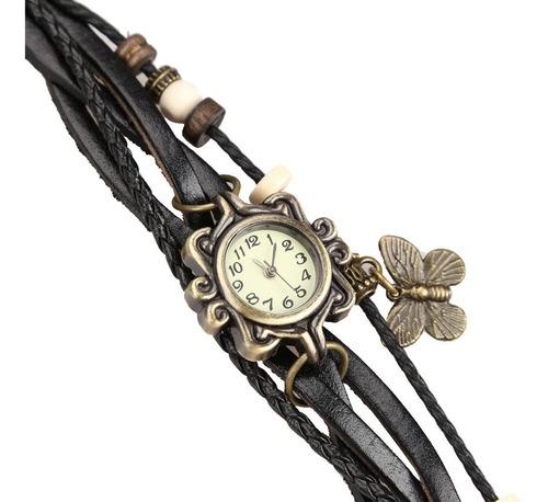 relojes de pulsera cuero y dije para damas