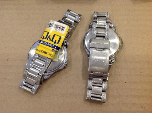 relojes de pulsera q&q con caja (2x1, leer!)