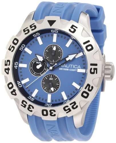 relojes de pulsera,reloj nautica n15607g azul.....